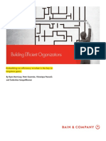 [Outstanding] BAIN BRIEF Building Efficient Organizations
