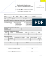 Training Application Form for Business Analytics 20150321