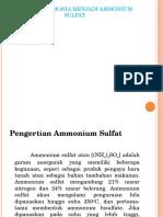 SINTESIS AMMONIA MENJADI AMMONIUM SULFAT kelompok 2.pptx