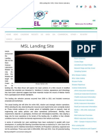 MSL Landing Site – MSL – Mars Science Laboratory