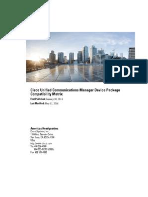Cucm Device Package Compatibility Matrix   Electromagnetic