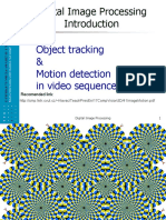 Benesova_Digital Image Processing Lecture Objects Tracking & Motion Detection