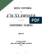 ESCRITOS POSTUMOS DE J B ALBERDI - TOMO XIV - ANO 1900 - PORTALGUARANI