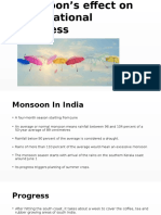 Monsoon's Effect on International Business