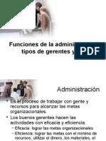Funcion de La Administracion y Tipo de Gerentes 1231103179629927 1