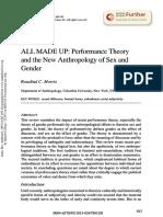 Morris Performance Theory Gender