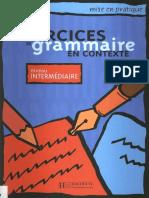 EXERCICES DE GRAMMAIRE EN CONTEXTE - Intermediaire.pdf