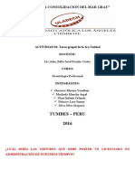 Administracion x Tumbes Deontologia Profesional Tara Grupal i Unidad