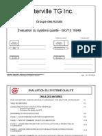 Evaluation Du Systeme Qualite Des Fournisseurs ISO TS 16949