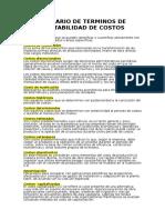 Glosario de Terminos de Contabilidad de Costos