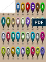 Alphabet Letters and Numbers in the Form of Gps Icons G1Y1z0Iu