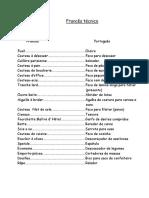 Frances Técnico Glossario