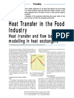 Heat Transfer in the Food Industry