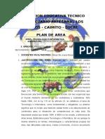 Plan de Area de Tecnologia e Informatica de Los Cayitos