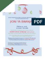 Invitation to  Jioni Ya Bwanjai