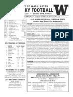 Huskies vs. Oregon State notes