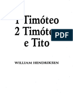 1 Timóteo 2 Timóteo e Tito - William Hendriksen