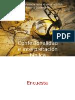 ConfesionalidadInterpretacionBiblica