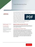 Oracle Manufacturing Cloud Datasheet