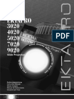 Kodak Ektapro 9010 Bedienungsanleitung