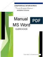Ejercicios MS Word 30 Adrian Mtz. 1ro C IP