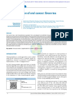 Chemoprevention of Oral Cancer Green Tea