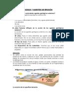 Procesos y Agentes de Erosión