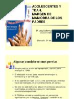 Adolescentes y TDAH_Margen de  maniobra de los padres_Jesús Bernal