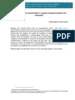 Artigo - Interatividade Na Comunicação - o Usuário Enquanto Produtor de Conteúdo