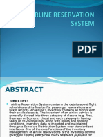 Ppt of Airline Reservation System Project Report