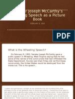 senator joseph mccarthy wheeling speech