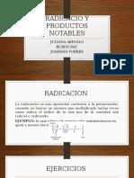Radicacio y Productos Notables