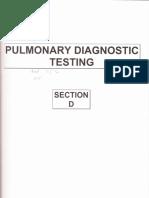 D- Pulmonary Diagnostic Testing