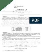 Ayudantía 13 (Termodinámica y Teoría Cinética UC)