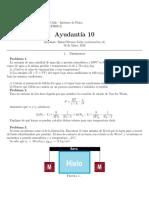Ayudantía 10 (Termodinámica y Teoría Cinética UC)