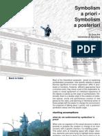 Symbolism a Priori - Symbolism a Posteri
