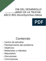 Evaluacion Del Desarrollo Embrionario de La Trucha Arco