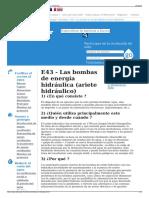 E43 - Las Bombas de Energía Hidráulica (Ariete Hidráulico)