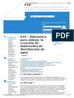 E45 - Hidráulica Para Aldeas- La Creación de Minirredes de d