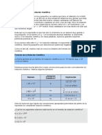 Notacion Cientifica,Despeje y Valor Numerico