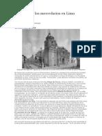 Notas Sobre Los Mercedarios en Lima