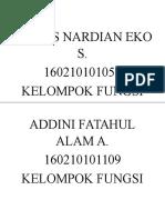 Daftar Nama Fungsi