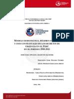 César Delgado Guembes - Tesis Modelo Democrático, Régimen Político y Usos Contextuales de Los Decretos de Urgencia en El Perú (1980-2015)
