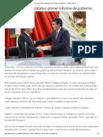 13-10-16 Recibe El poder legislativo Primer Informe de Gobierno.- Opinión Sonora