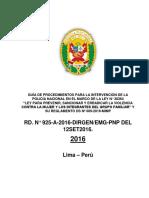 Guía de Procedimiento PNP Ley30364