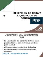 Recepcion de Obra- Liquidacion
