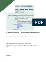 El Desarrollo Industrial y Su Impacto en El Medio Ambiente