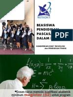 Presentasi BEASISWA-BPPDN