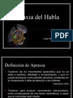 Apraxia Del Habla UA 2015