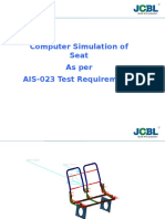 Fea of Seat as Per AIS 023 Test Requirements